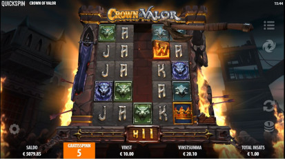 Crown of Valor Free Spins
